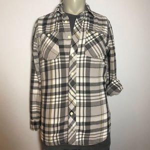 ROEBUCK & CO Plaid Flannel Button Down Shirt Med